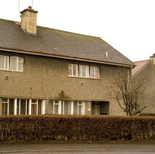 Houses on Low Crescent. - Whitecrook, Clydebank. December 1981