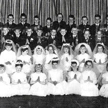 OHR 1967.   My friend Banjo brought round this scan of a photo from 1967. It's not great quality, and I don't have the energy to type out all the names, but my nephew Paul Murray is third from the left in the back row. Sadly, Paul passed away a few years ago. David 'Banjo' Parker is in there somewhere too. Banjo pointed out that 2020 is the Bus Pass year for this class.