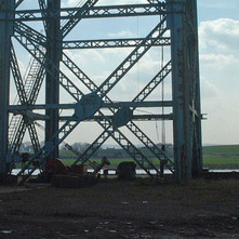 The base of the Titan Crane.  -  9th April 2002