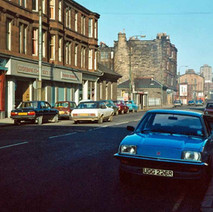 Lookin up Kilbowie Road towards the canal. - Photo by Tommy Quinn. 1979