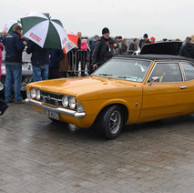 A classic Ford Cortina, one of over 100 cars on display at the Scottish start of the Monte Carlo Rally - 29th January 2012