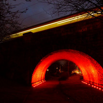 Train going over the underpass. - 29th January 2011