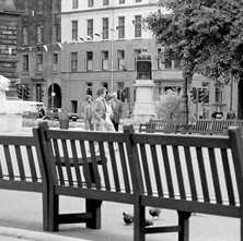A quiet George Square. - Glasgow 2nd July 1979