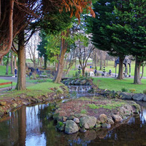 A pleasant scene in Dalmuir Park. The park was quite busy with people enjoying the fresh air.  -   Dalmuir Park.  -  22nd January 2021