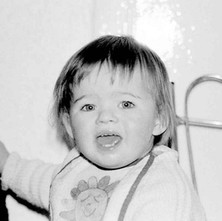 Jennifer just over two years old. - May 1980