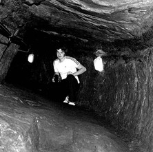 Paul, my nephew, under St Andrews Castle in the siege mine. It gives you a sense of the horrific nature of medieval siege warfare. - 16th July 1978