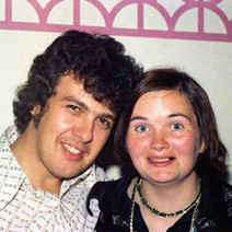Me and my sister-in-law, Mary, enjoying the folk night. - Douglas Hotel, Clydebank 13th august 1977