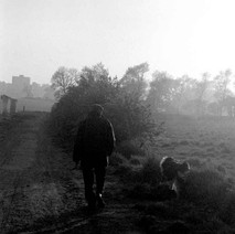 Man walking his dog. - Saturday 17th May 1980