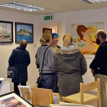 Open Art Exhibition Launch Night in Awestruck Art Gallery, Kilbowie Road.  -  3rd February 2017