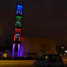 A very colourful Abbotsford Church, beside the Clyde Shopping Centre. - 29th January 2011