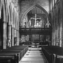 The interior of Wakefield Cathedral. - Yorkshire 12th july 1979