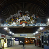 The big ship clock in the Clyde Shopping Centre. - 29th January 2011