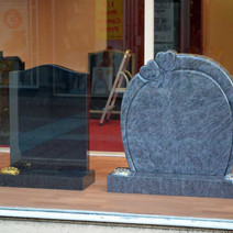 Gravestones in the window of the Clydebank Co-operative. Is this the future? - 5th February 2013