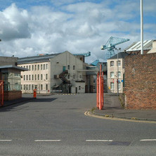 The main entrance to the Shipyard on Cart Street.  -  27th August 2001