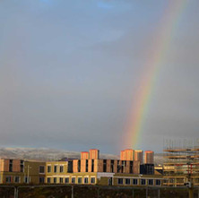 Rainbow hitting the new houses being built on the site of the former John Brown's Shipyard. They are beside the new Care Home which opened last month.  -  3rd January 2021