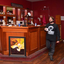 The old REDS bar in Awestruck Academy, the strongest drink I got from it today was coffee... Aan does make a very strong coffee... - 6th March 2018