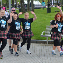 Glasgow Kiltwalk. - around 7000 participants take to the streets, public parks and cycleways to take part in the 2014 Kiltwalk, Kiltwalkers raise funds to support Scotlands leading charities.  -  27th April 2014
