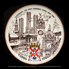 A Commemorative plate celebrating Clydebank's 100th Anniversary as a Burgh. The plate was brought out in 1986, a limited edition of 750. A lady called Georgie Green gave it to me recently as a gift.