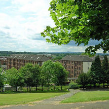 A view of the tenements from Dalmuir Park. - 7th June 2009
