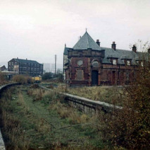 The Riverside Booking Office all boarded up. - Clydebank. Photo by Tommy Quinn.