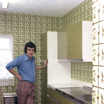 The new kitchen I fitted in our house at 26 Low crescent. I worked for Ideal kitchens in Dumbarton at the time and you could buy kitchens at bargain prices. Low Crescent, Whitecrook, Clydebank. 1st April 1978