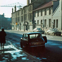 Looking down Kilbowie Road towards the main road. - Photo by Tommy Quinn. 1979