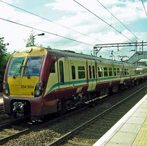 A train in Clydebank Station. - 24th June 2009