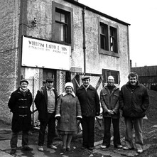 Photo of the Latto workers ouside their premises. Jimmy ward is second from the left. - Photo supplied by Jimmy and Patricia Ward.
