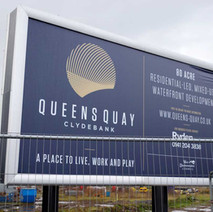 Queens Quay development on the site of the former John Brown's Shipyard. - 6th March 2019