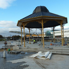 The restoration of the Band Stand continues. 26th January 2011