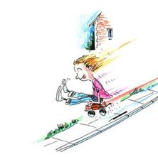 I used to steal my sister's skates and bomb it down Graham Avenue on a wee daud o' wid...eeeeeeeeeeeeeehaaaa