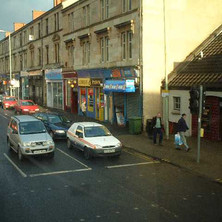 The bottom of Kilbowie Road at Chandlers.  -   17th December 2001