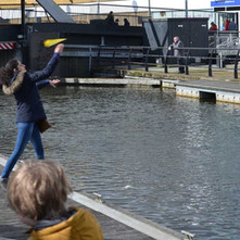 We tried to fire paper aeroplanes over to the other side of the canal, none of us managed it. (All paper planes were recovered from the canal). - 24th March 2018