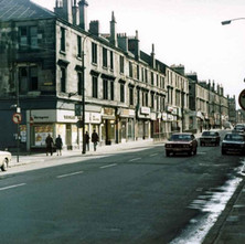 Glasgow Road with Hume Street across on the left. - Photo by Tommy Quinn.