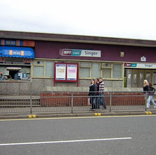 Singer Railway Station, Kilbowie Road. - 10th April 2009 - Clydebank