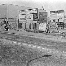 The new Clyde Shopping Centre being constructed as viewed from Kilbowie Road. - July 1978
