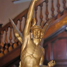 The 'Angel was blown down from the top of the town Hall in the January gale of 1968. - 4th April 2009 - Town Hall, Clydebank