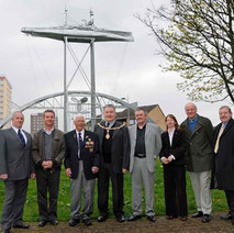 Freddie with the Provost, Tom McKendrick, Councillors & MPs. - Sunday 25th April 2010 Dalmuir