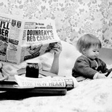 Mum and Jennifer having Sunday breakfast in bed. - Sunday 17th February 1980