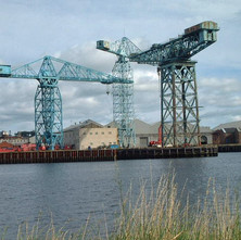 A trio of Cranes, including the mighty Titan, the only one that will survive the death of the shipyard.  -  5th September 2001