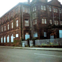 Elgin Street School, viewed from John Knox Street. Clydebank 1987. - Photos taken by Sarah from California, USA