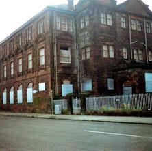 Elgin Street School, viewed from John Knox Street. Clydebank 1987. - Photos taken by Sarah from California, USA