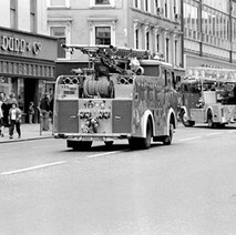 Fire engines on Argyle Street, probably heading to one of the many bomb scares we got at this period in time. - Friday 29th June 1979