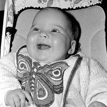 My daughter Jennifer just over 2 months old. 4th July 1978