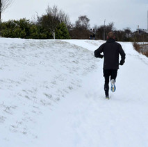Even heavy snow doesn't put the die-hard runner off. - 28th February 2018