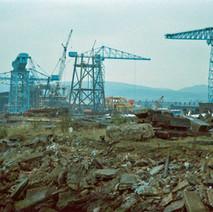 Inside the Yard, demolition in progress.  -  23rd August 2001