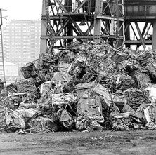 Rothesay Dock. - Lots of crushed cars. - 8th March 1980