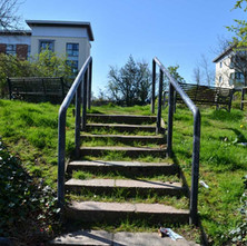 Steps at Dalmuir leading up to the Forth & Clyde Canal. - 18th April 2014