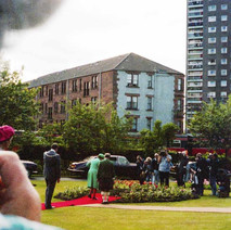 The Queen planting the Centenary Rose in Dalmuir Park. Clydebank Centenary Celebrations 1986 - photo by Sam Gibson