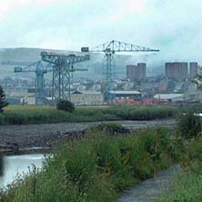 The former John Brown Shipyard  -  22nd July 2001